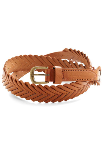 Flair Tutorial Belt - Tan, Better, Faux Leather, Solid, Braided, Casual