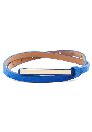 Minimalist Must-have Belt - Blue, Silver, Solid, Minimal, Good, Faux Leather