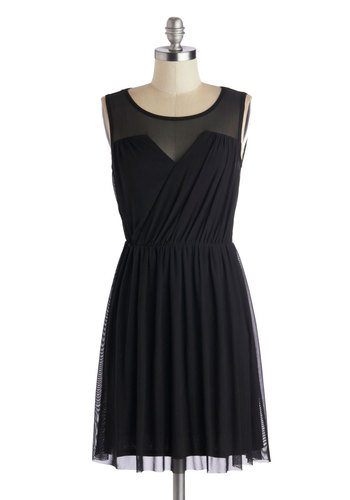 Any Swish Way Dress in Black by Jack by BB Dakota - Short, Knit, Black, Solid, Ruching, Party, Girls Night Out, Sleeveless, Sweetheart, LBD