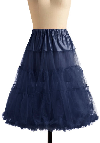 Va Va Voluminous Petticoat in Navy - Blue, Solid, Special Occasion, Prom, Wedding, Party, Holiday Party, Bridesmaid, Rockabilly, Pinup, Vintage Inspired, 40s, 50s, Luxe, Statement, Long, Sheer, Variation, 60s