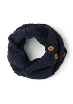 Stage Door Circle Scarf in Indigo