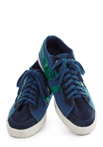 Me, Myself, and Sky Sneaker in Dark Blue - Low, Leather, Blue, Green, Casual, Better, Lace Up, Vintage Inspired, 90s, Variation