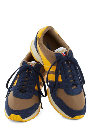 Throwback to School Sneaker - Low, Blue, Casual, Better, Lace Up, Yellow, Brown, Summer