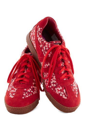 Arrange of Motion Sneaker - Low, Red, White, Floral, Casual, Better, Lace Up, Summer