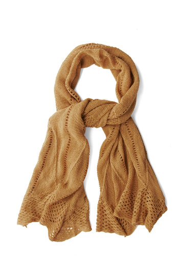 Heartwarming Up Scarf in Amber - Yellow, Solid, Fall, Winter, Good, Variation, Knit, Knitted