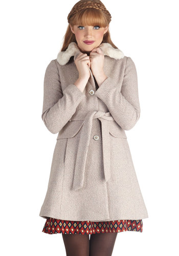 The Long Way There Coat - 3, Pink, Solid, Buttons, Pockets, Belted, Faux Fur, Better, Long, Pink