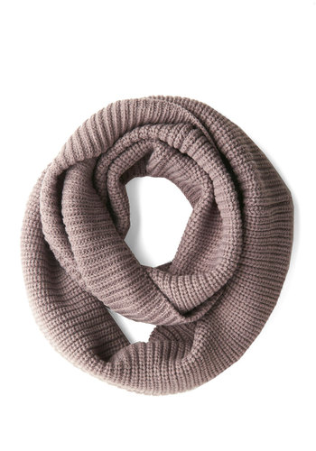 Infinity Plus One Circle Scarf in Taupe - Grey, Solid, Minimal, Good, Variation, Basic, Knit, Knitted