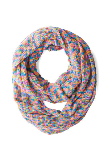 Rainbow So Cute Scarf - Multi, Print, Fall, Winter, Knit