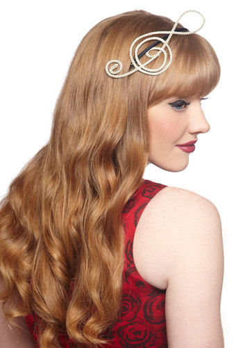 Asking for Treble Headband by Ophelie Hats - Tan, Black, Solid, Formal, Music, Best