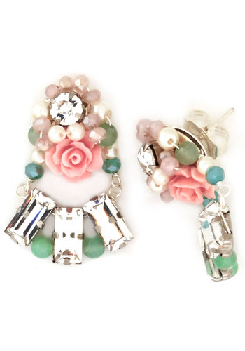 Dainty If You Do Earrings - Multi, Solid, Flower, Pearls, Rhinestones, Special Occasion, Luxe, Beads