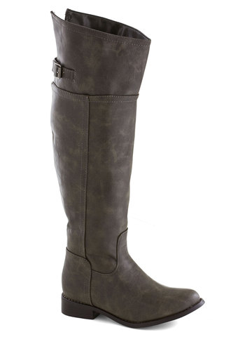 Forevermore Boot - Low, Faux Leather, Solid, Good, Grey, Casual, Minimal, Fall