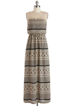 Monochrome Mosaic Dress
