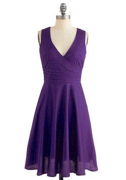 Beguiling Beauty Dress in Purple