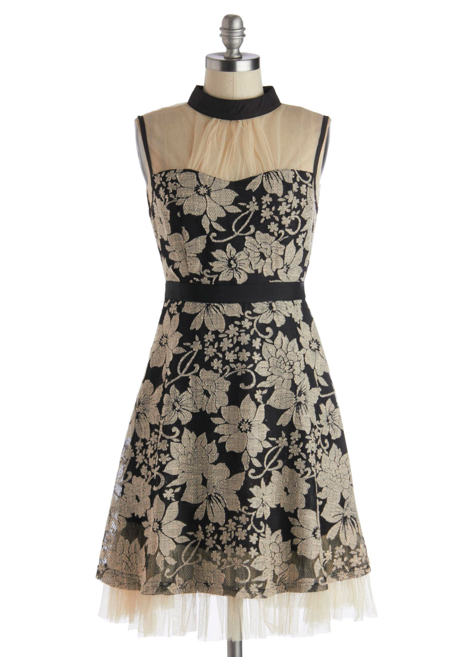 ryu botanical banquet dress mod retro vintage dresses. Black Bedroom Furniture Sets. Home Design Ideas
