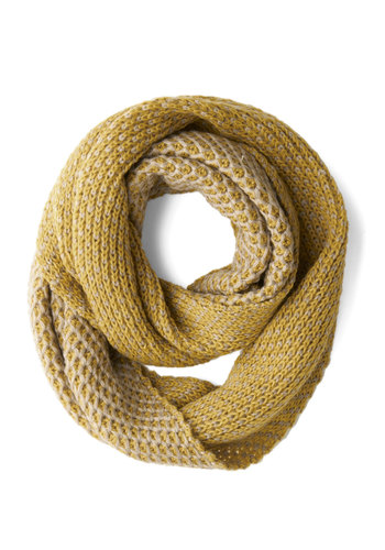 Easy-glowing Afternoon Circle Scarf - Yellow, Grey, Solid, Fall, Winter, Better, Variation, Knit, Knitted, Casual