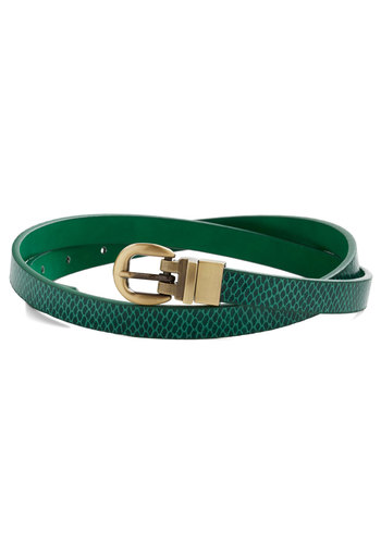 Practice Your Scales Belt - Green, Gold, Animal Print, Better, Faux Leather, Press Placement