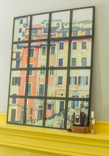 Living Room with a View Frame Set - Black, Dorm Decor, Urban, Best, Solid