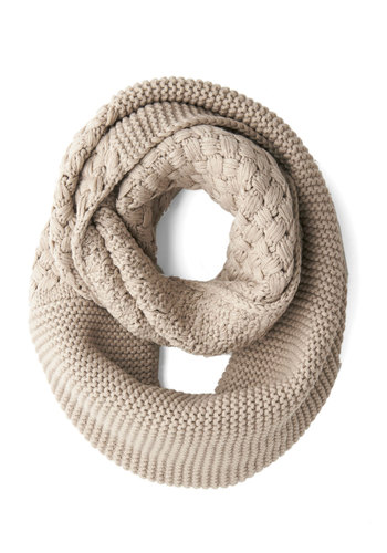 Outdoor Movie Circle Scarf in Wheat - Tan, Solid, Woven, Fall, Winter, Better, Variation, Knit, Casual