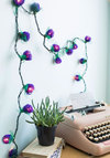 In Rose and Columns String Lights in Purple - Wedding, Party, Boho, Dorm Decor, Better, Purple, Green, Valentine's, Spring