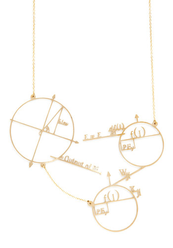 Cute and Astute Necklace by Monserat De Lucca - Gold, Gold, Scholastic/Collegiate, Graduation