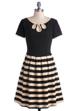 Twirl Next Door Dress in Two-Tone