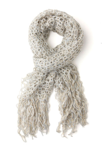 Morning Pick Me Up Scarf - Blue, Solid, Crochet, Fall, Winter, Better, Sheer, Pastel