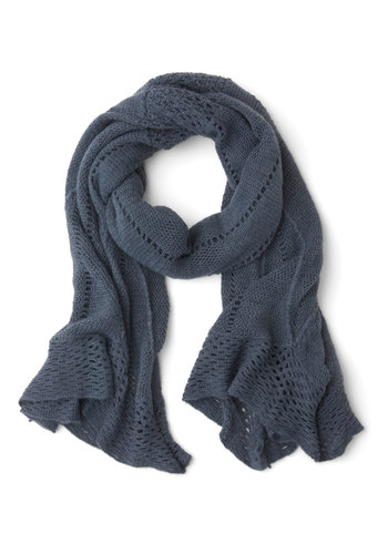 Heartwarming Up Scarf in Dusk Blue - Blue, Solid, Fall, Winter, Good, Variation, Knit, Knitted