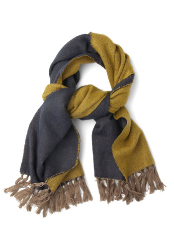 Coupled with Coziness Scarf - Solid, Fringed, Fall, Winter, Better, Yellow, Blue
