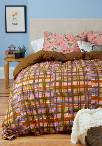 Drifting Off to Dreamland Duvet Cover Set in Full/Queen - Multi, Dorm Decor, Best, Blue, Floral, Cotton, Woven, Exclusives