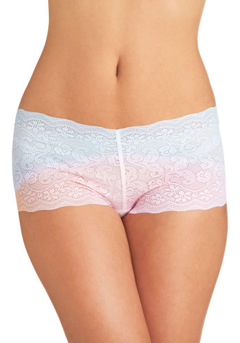 Sweet Skyline Undies - Sheer, Knit, Blue, Pink, Ombre, Lace, Pastel