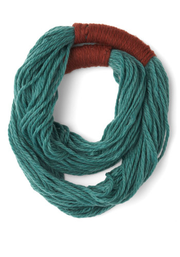 Strands to Reason Circle Scarf in Teal - Green, Solid, Fall, Winter, Good, Variation, Red, Boho