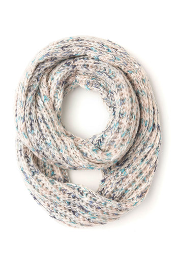 Out on the Trail Circle Scarf - Multi, Solid, Pastel, Fall, Winter, Better, Blue, Tan / Cream, Knitted, Knit