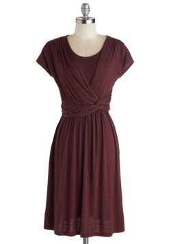 Take It to Art Dress in Burgundy