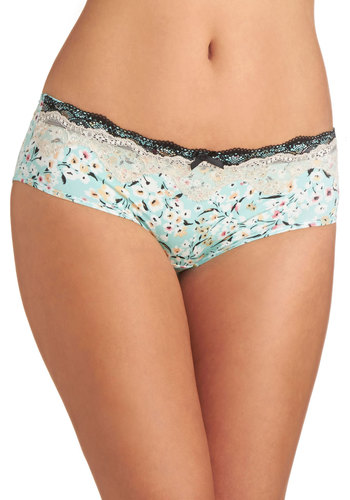 Vacation Foundation Undies - Mint, Multi, Floral, Bows, Lace, Trim, Pastel, Knit