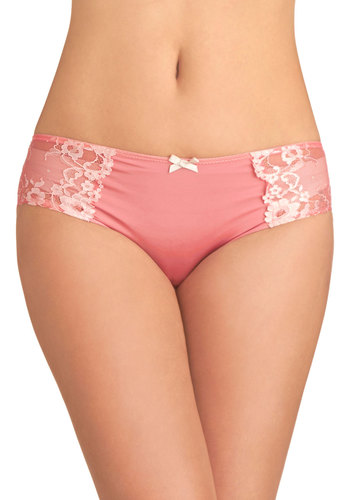 Linger at Your Wardrobe Undies - Pink, Solid, Bows, Lace, Knit