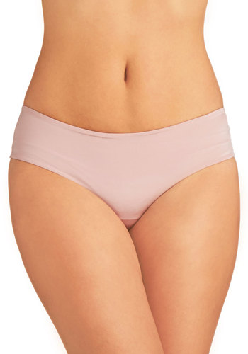 Wear Me Anywhere Thong in Mauve - Tan, Solid, Seamless, Knit, Variation, Basic