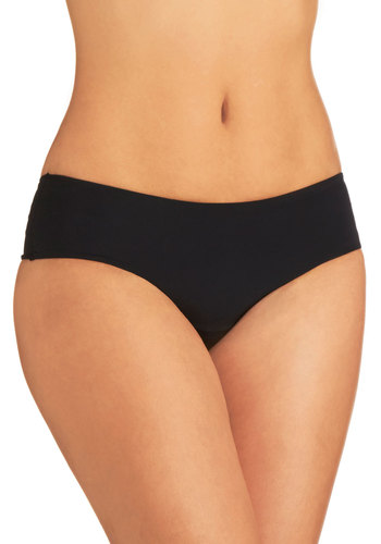 Wear Me Anywhere Thong in Black - Black, Solid, Variation, Basic