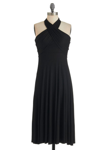 Style-a-Day Dress in Friday Night - Black, Solid, Short, Party, Maxi, Halter, Summer, Cocktail, Jersey, Variation, Beach/Resort, LBD, Cover-up, Top Rated