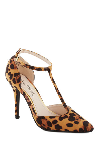 Altruistic Darling Heel in Leopard - High, Brown, Black, Animal Print, Party, Girls Night Out, Good, T-Strap