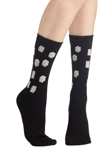 Game of Prance Socks - Black, White, Casual, Good, Knit, Novelty Print, Gifts Sale