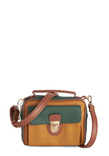 Sounds Splendid Bag by Melie Bianco - Yellow, Gold, Solid, Colorblocking, Better, Faux Leather, Green, Tan / Cream, Work, Scholastic/Collegiate, Military