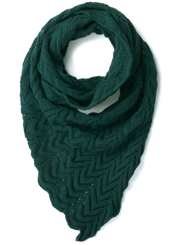 Teal Me Everything Circle Scarf - Knitted, Better, Green, Solid, Knit, Folk Art, Winter