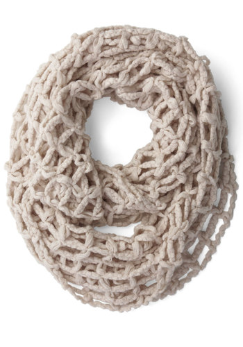 Open to Anything Circle Scarf in Beige - Cream, Solid, Cutout, Fall, Winter, Better, Variation