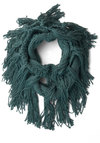 Toffee and Tea Circle Scarf in Blue - Blue, Solid, Fringed, Knitted, Fall, Winter, Better, Knit, Variation