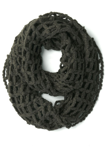Open to Anything Circle Scarf in Pavement - Grey, Solid, Cutout, Fall, Winter, Better, Variation