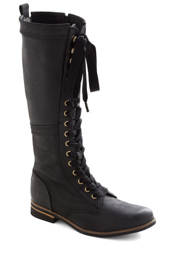 Industrial Evolution Boot in Black - Black, Solid, Lace Up, Low, Leather, Best, Military, 90s