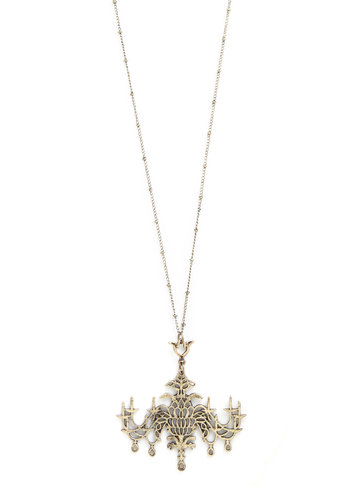 Chandelier and Far Necklace - Gold, Solid, French / Victorian, Good, 20s, Gold, Gifts Sale