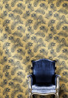 Lincoln Park Temporary Wallpaper - Gold, Blue, Dorm Decor, Better, Novelty Print, Vintage Inspired, Variation
