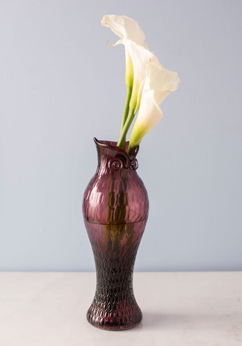 Owl Finest Flowers Vase by One Hundred 80 Degrees - Purple, Owls, Better, Solid, Print with Animals, Halloween