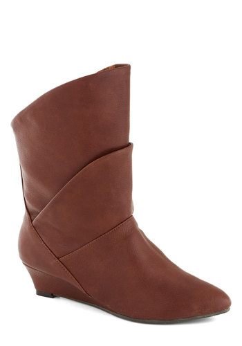Bourbon Explorer Boot in Whiskey by Bait Footwear - Multi, Low, Better, Wedge, Faux Leather, Brown, Solid, Casual, Fall